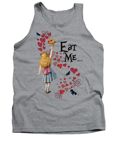 Alice In The Wonderland Eat Me Muffin  Tank Top