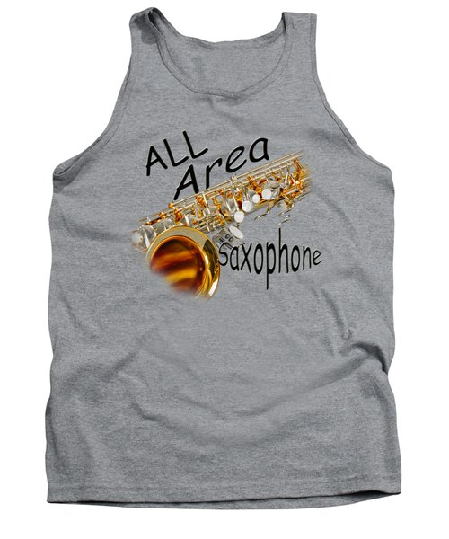 All Area Saxophone Tank Top by M K  Miller