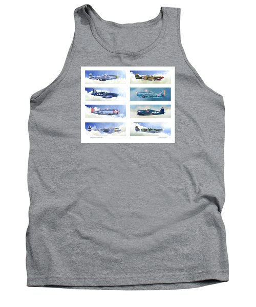 Allied Fighters Of The Second World War Tank Top