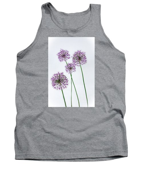 Alliums Standing Tall Tank Top by Susan  McMenamin