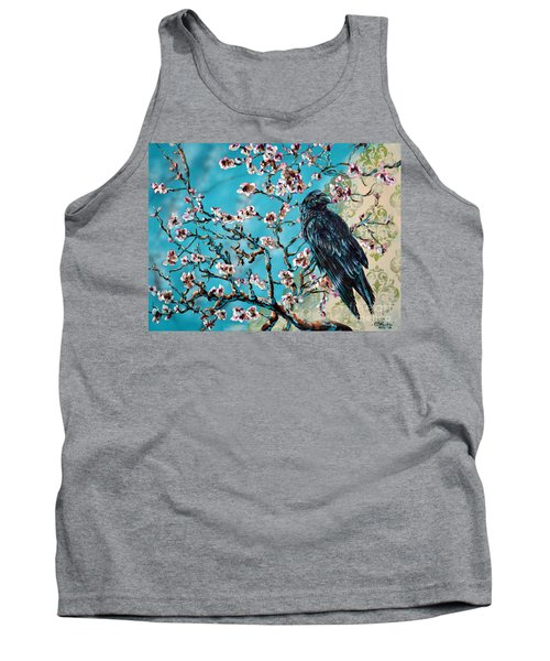 Almond Branch And Raven Tank Top