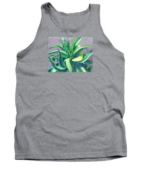 Aloe Vera Watercolor Tank Top