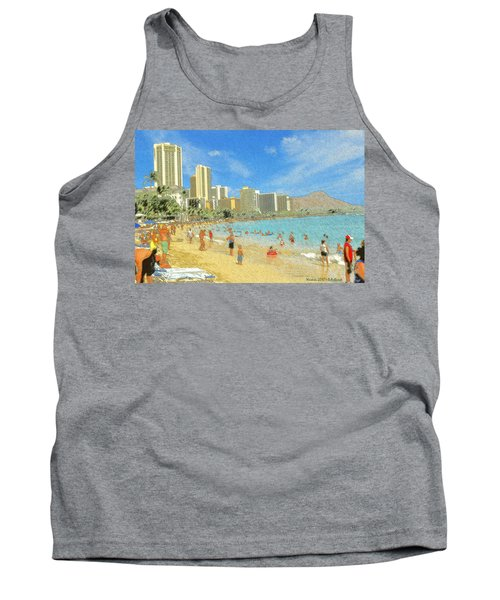 Aloha From Hawaii - Waikiki Beach Honolulu Tank Top