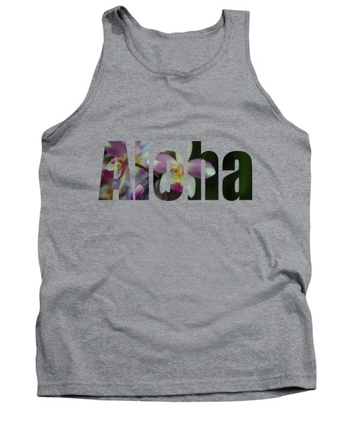 Aloha Orchids Type Tank Top by Kerri Ligatich