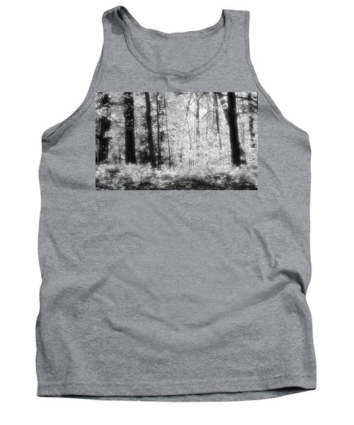 Along The Top Bw  Tank Top by Lyle Crump