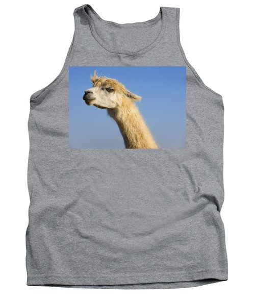 Tank Top featuring the photograph Alpaca by Skip Hunt