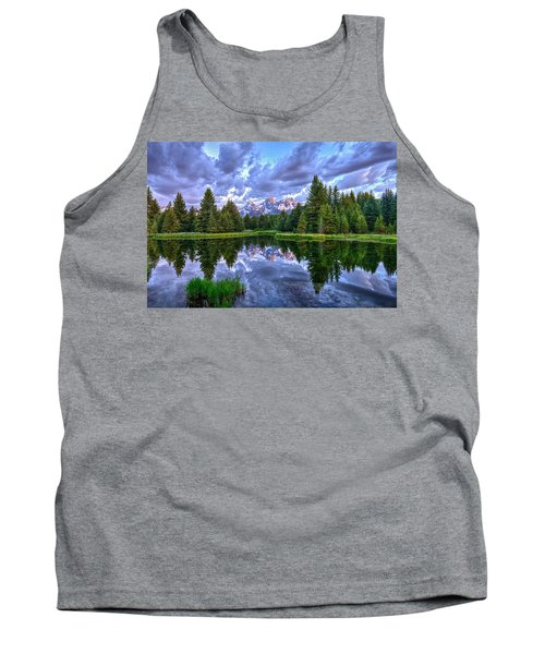Alpenglow In The Tetons Tank Top