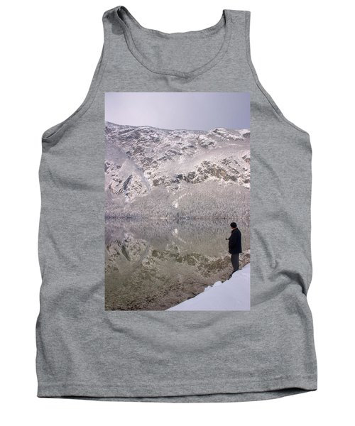 Tank Top featuring the photograph Alpine Winter Reflections by Ian Middleton