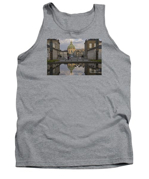 Tank Top featuring the photograph Amalienborg Castle And The Marble Church by Inge Riis McDonald