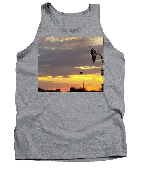 Patriotic Sunset Tank Top