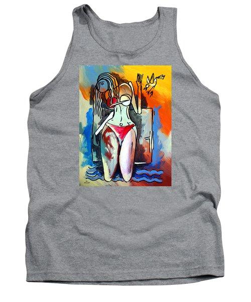 Ameeba- Nude Woman On Beach 1 Tank Top