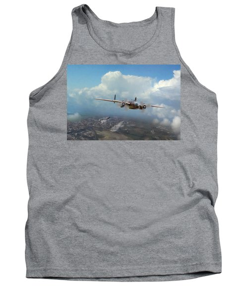 Tank Top featuring the digital art America Strikes Back by Peter Chilelli