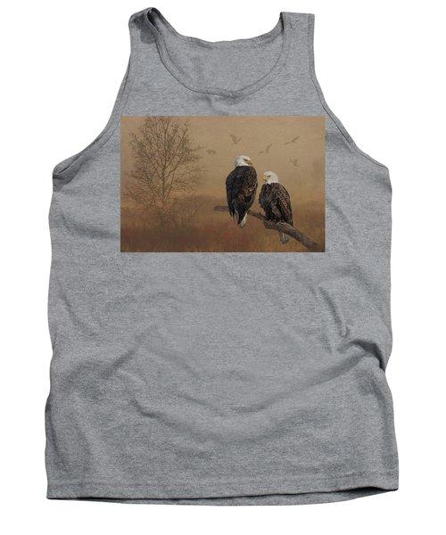 American Bald Eagle Family Tank Top