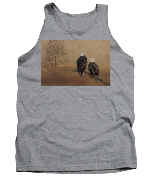 American Bald Eagle Family Tank Top