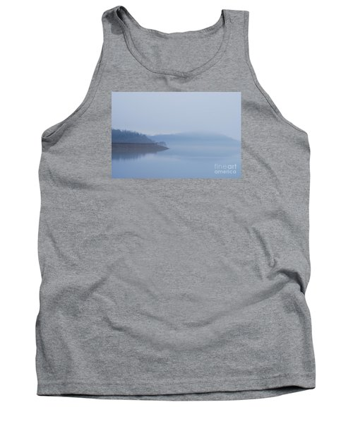 Tank Top featuring the photograph American Coot In Misty Fog 20120316_40a by Tina Hopkins