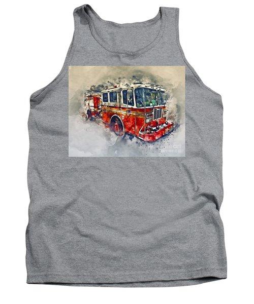 American Fire Truck Tank Top