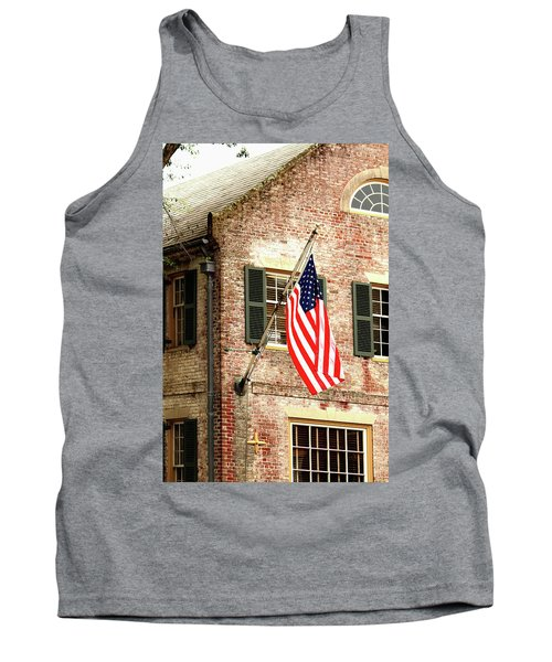 American Flag In Colonial Williamsburg Tank Top