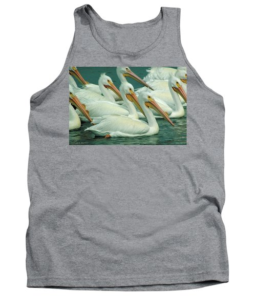American White Pelicans Tank Top