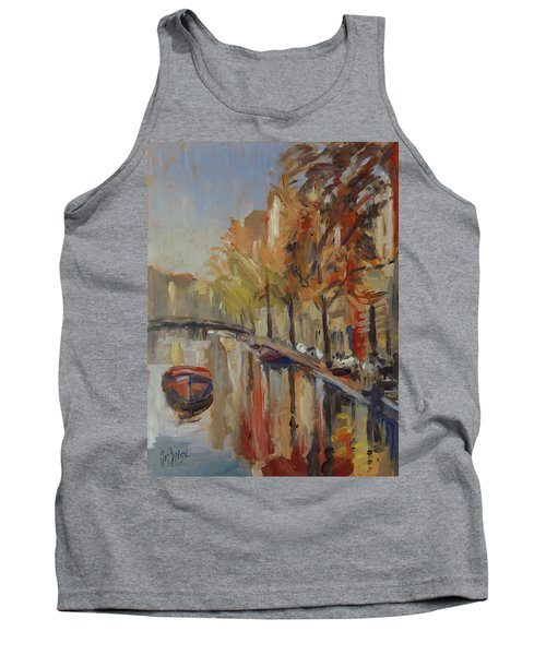 Amsterdam Autumn With Boat Tank Top
