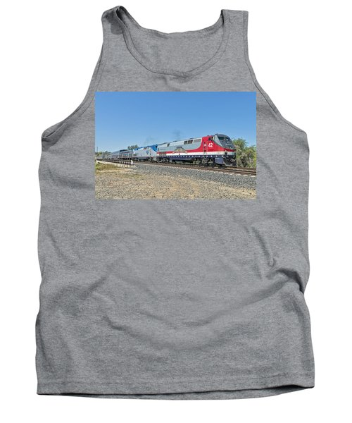 Tank Top featuring the photograph Amtrak 42  Veteran's Special by Jim Thompson
