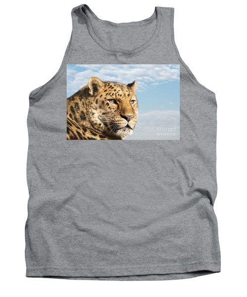 Amur Leopard Against Blue Sky Tank Top