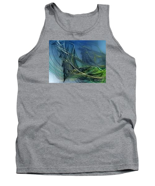 Tank Top featuring the digital art An Echo Of Speed by Karin Kuhlmann