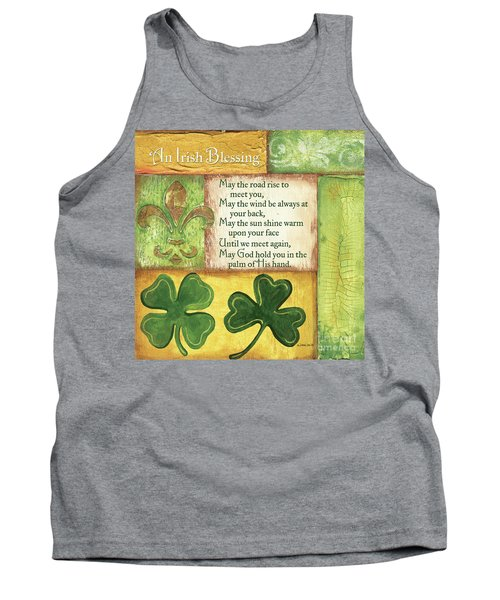 Tank Top featuring the painting An Irish Blessing by Debbie DeWitt