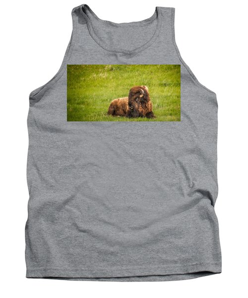 Tank Top featuring the photograph Ancient Bison by Rikk Flohr
