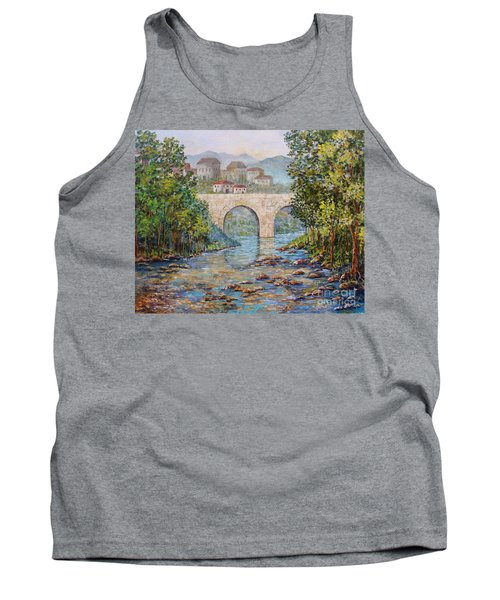 Ancient Bridge Tank Top by Lou Ann Bagnall