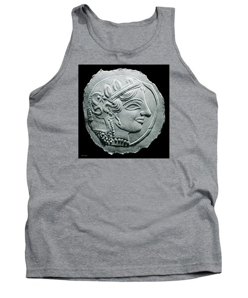 Tank Top featuring the relief Ancient Greek Relief Seal Drawing by Suhas Tavkar