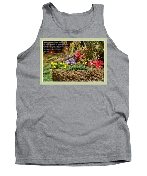 And So In This Moment With Sunlight Above II Tank Top by Jim Fitzpatrick