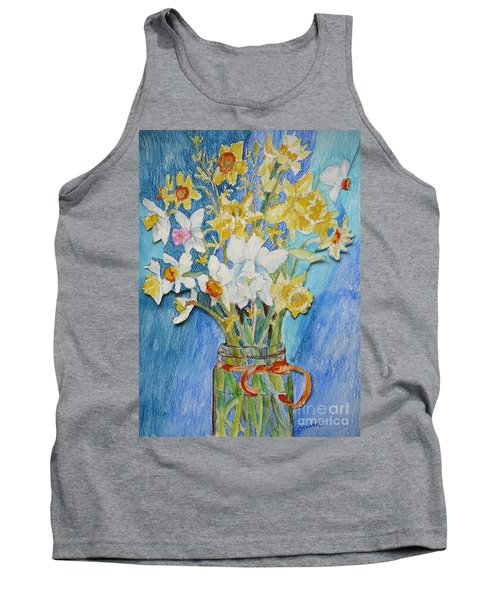 Angels Flowers Tank Top by Jan Bennicoff