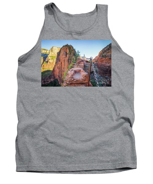 Angels Landing Hiking Trail Tank Top by JR Photography