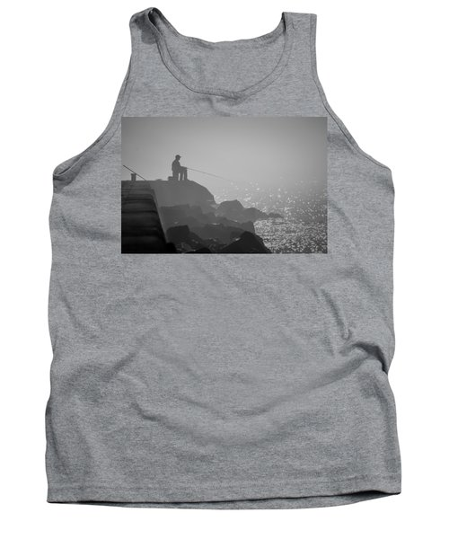 Angling In A Fog  Tank Top by Bill Pevlor