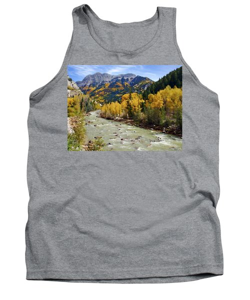 Tank Top featuring the photograph Animas River San Juan Mountains Colorado by Kurt Van Wagner