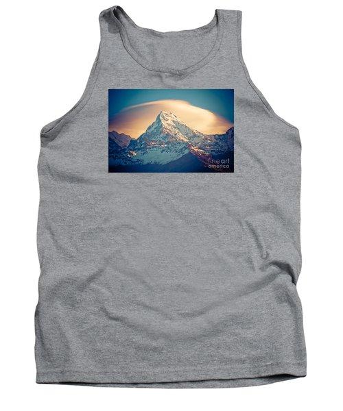 Annapurna Sunrise Himalayas Mountains Tank Top