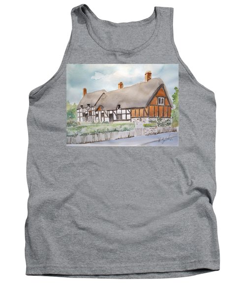 Tank Top featuring the painting Anne Hathaway's Cottage by Marilyn Zalatan