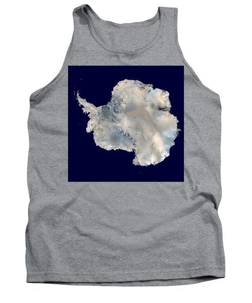 Antarctica From Blue Marble Tank Top