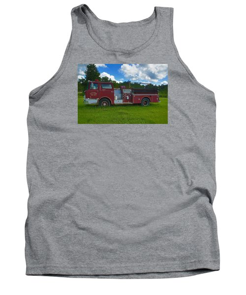 Antique Fire Truck Tank Top by Ronald Olivier