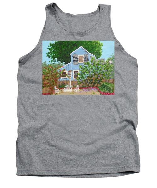 Tank Top featuring the painting Antique Shop, Cambria Ca by Katherine Young-Beck