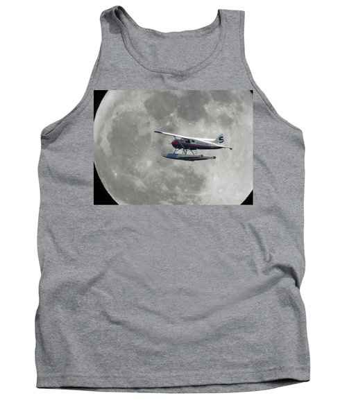 Aop And The Full Moon Tank Top by Mark Alan Perry