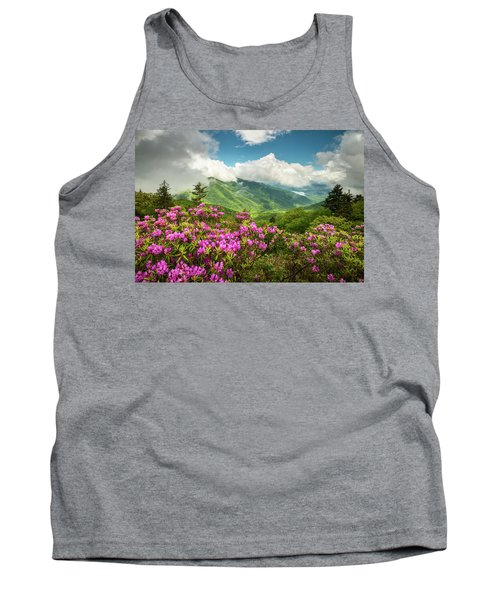 Appalachian Mountains Spring Flowers Scenic Landscape Asheville North Carolina Blue Ridge Parkway Tank Top