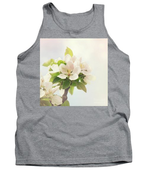 Apple Blossom Retro Style Processing Tank Top