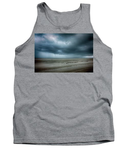 Approaching Storm On Ocracoke Outer Banks Tank Top by Dan Carmichael