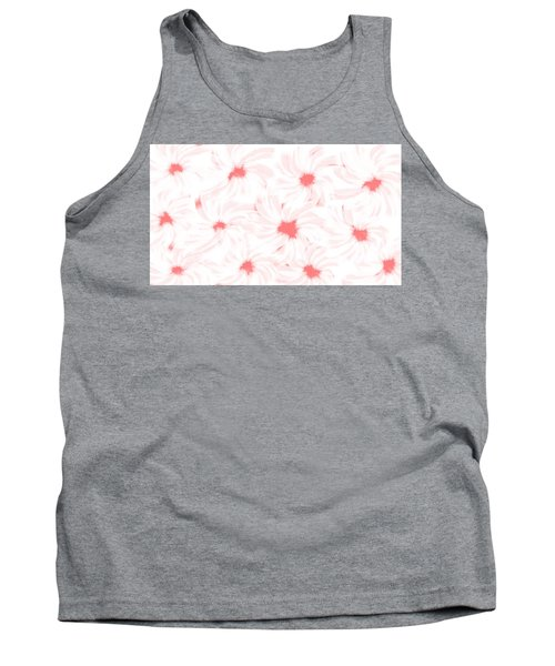 'apricot And White Flower Abstract 2' Tank Top