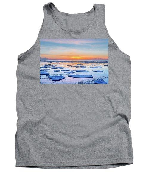 April Sunset Over Lake Superior Tank Top