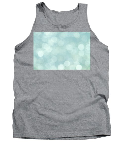 Tank Top featuring the photograph Aqua Abstract by Peggy Collins