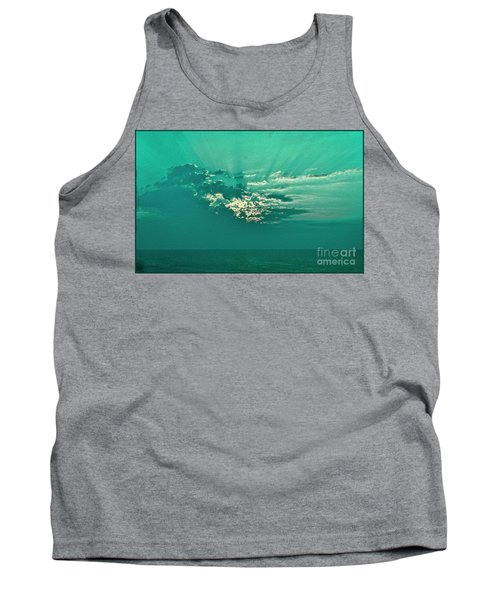 Aqua Sunset Tank Top