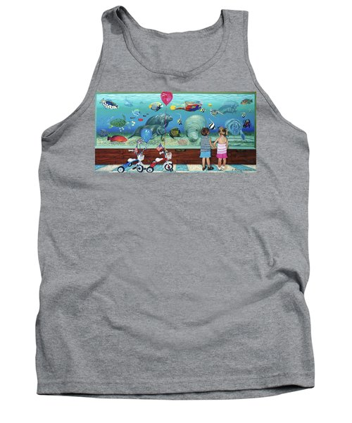 Aquarium With Twins Towel Version Tank Top