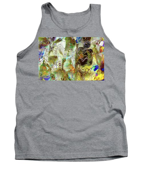 Arbitrary Color Opticality Tank Top by Don Gradner